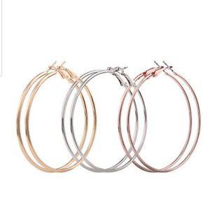 Jewelry - Set of 3 Hoop Earrings